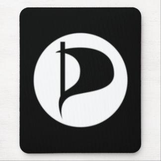 Deluxe Piraten-Party-Logo (sehen Sie Beschreibung) Mousepads