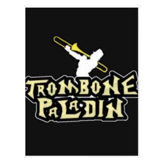 Deluxes Trombone-Paladin-Logo Postkarte