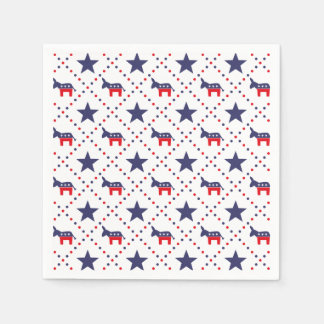 Demokrat-Diamant-Muster Papierservietten