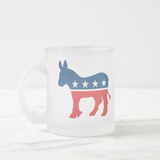 Demokrat-Esel Matte Glastasse