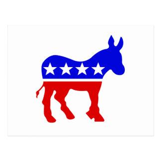 Demokrat-Esel-politisches Symbol Postkarte