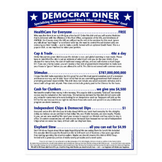 Demokrat-Restaurant Postkarte