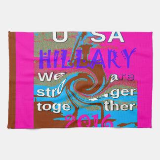 Demokraten Hillary für USA Präsidenten We sind Geschirrtuch