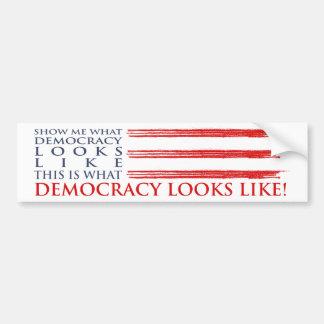 Demokratie-Autoaufkleber Autoaufkleber
