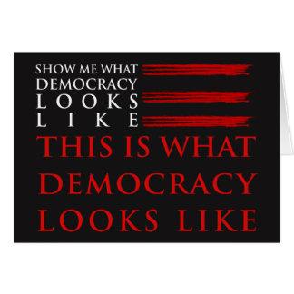 Demokratie-dunkle Gruß-Karte Karte