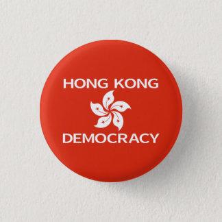 Demokratie-Hong Kong-Orchideen-Flagge Runder Button 2,5 Cm