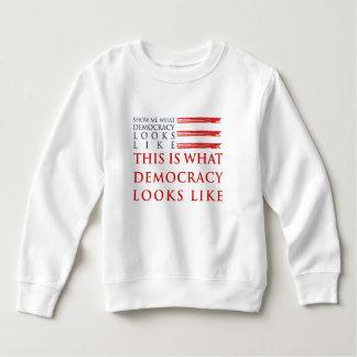 Demokratie-Kleinkind-Sweatshirt Sweatshirt