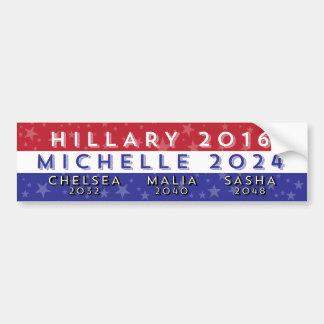 Demokratische Damen für Präsidenten 2016-2056 Autoaufkleber