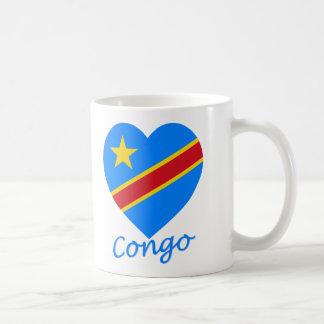 Demokratische Republik-Flaggen-Herz des Kongos Tasse