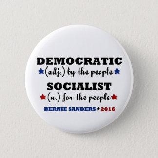 Demokratische sozialistische runder button 5,1 cm