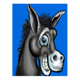 Demokratischer Esel Postkarte