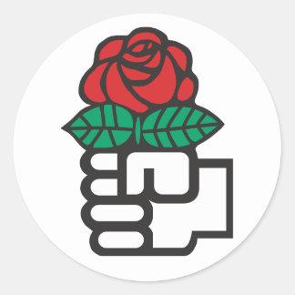 Demokratischer Sozialismus (das Faust-und Runder Aufkleber