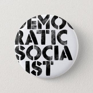 Demokratischer Sozialist Runder Button 5,7 Cm