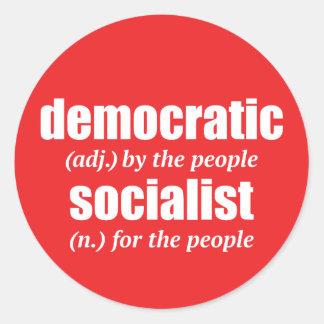 Demokratischer sozialistischer runder aufkleber