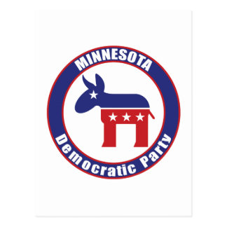 Demokratisches Party Minnesotas Postkarte
