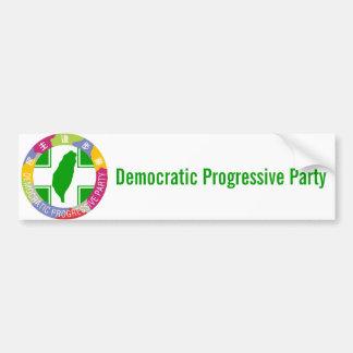 Demokratisches progressives Party Autoaufkleber