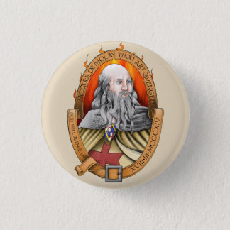 Demolay Tausendkunst Jacques avenged Runder Button 3,2 Cm