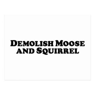 Demolieren Sie Elche und Eichhörnchen - Postkarte
