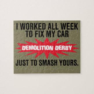Demolierungs-Derby-Zertrümmern Ihr Auto Puzzle