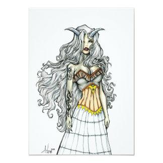 Demoness-Göttin 12,7 X 17,8 Cm Einladungskarte