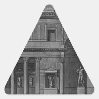 Demonstration eines Teils des Innenraums Dreiecks-Aufkleber
