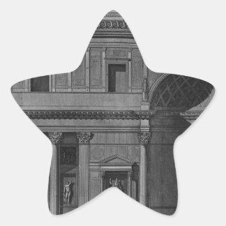 Demonstration eines Teils des Innenraums Stern Aufkleber