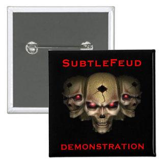 Demonstrations-Knopf Quadratischer Button 5,1 Cm