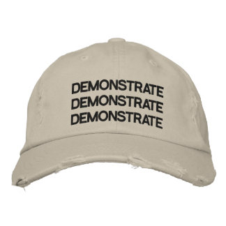 Demonstrieren Sie justierbarer Hut beunruhigten Besticktes Cap