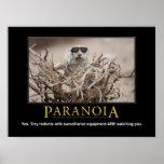 Demotivational Eichhörnchen-Plakat: Paranoia