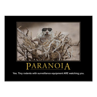 Demotivational Eichhörnchen-Plakat: Paranoia Poster