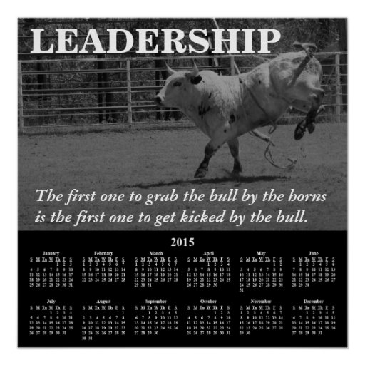 Demotivational Kalender-Führung 2015 Plakatdrucke