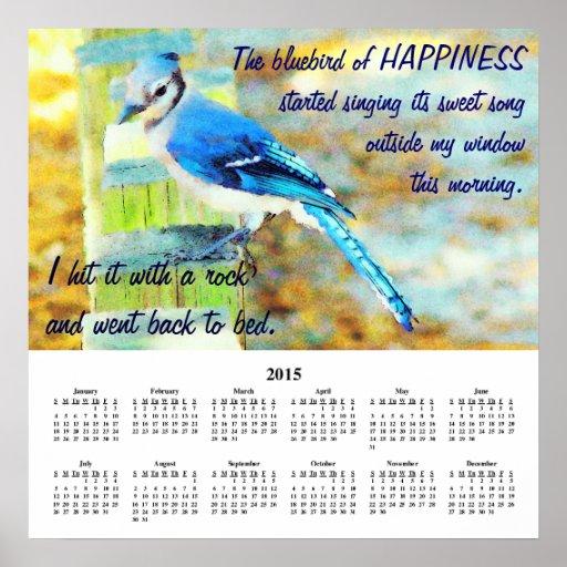 Demotivational Kalender-Glück 2015 Plakatdruck