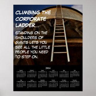 Demotivational Kalender-Unternehmensleiter 2014 Poster