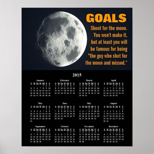 Demotivational Kalender-Ziel-Einstellung 2015 Posterdruck
