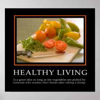 Demotivational Plakat-… gesundes Leben Poster