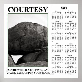 Demotivational Wandkalender 2015: Verlassen Sie Plakatdrucke