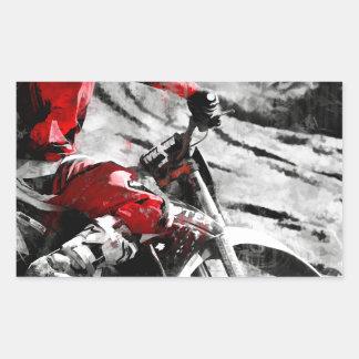 Den Berg besitzen - Motocross Schmutz-Fahrrad Rechteckiger Aufkleber