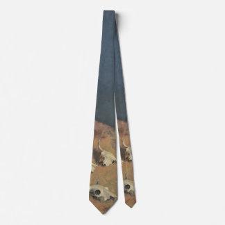 Den Büffel durch Frederic Remington zurück Bedruckte Krawatte