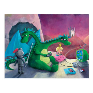 Den Drachen (es ist hart), töten Postkarte