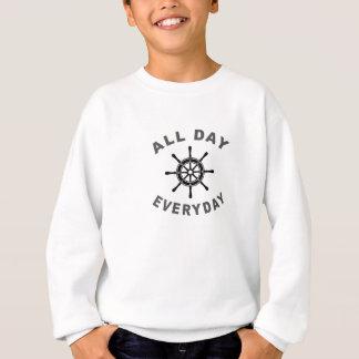 Den ganzen Tag tägliches Segeln-Rad Sweatshirt