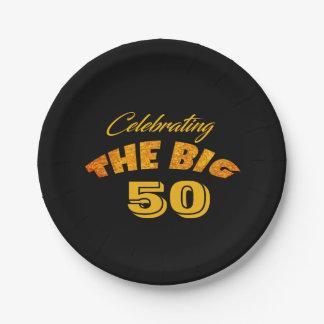 Den GROSSEN Text des Goldfeiern 50 - Männer - Pappteller