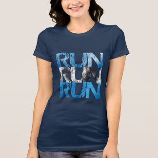 Den laufen gelassenen lassen Sie Lauf - Läufer T-Shirt