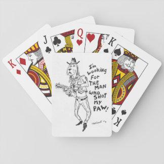 Den Mann suchen, der meine Tatze schoss! Spielkarten