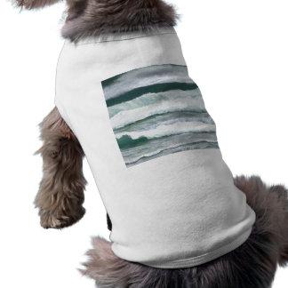 Den Wellen-Abbruch hören - CricketDiane Ozean-Kuns Hunde T Shirt