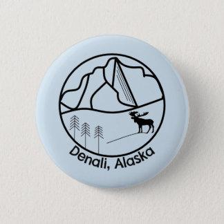 Denali Alaska Knopf Runder Button 5,1 Cm