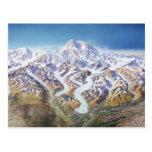 Denali (der Mount McKinley) Panorama Postkarte