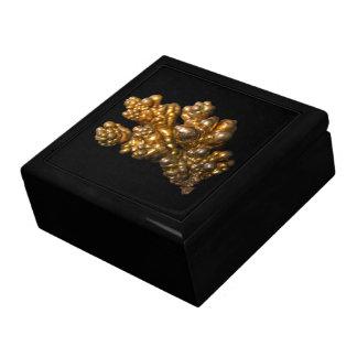 Dendritisches kupfernes Foto auf schwarzem Geschenkbox