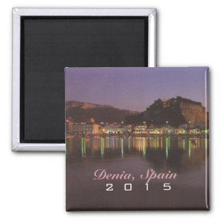 Denia Spanien Reise-Andenken-Magnet-Änderungs-Jahr Quadratischer Magnet
