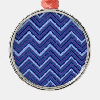 Denim-Blau-Sparren Silbernes Ornament