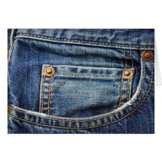Denim - blaue Jean-Tasche Karte